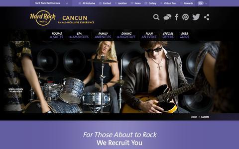 Screenshot of Jobs Page hrhcancun.com - Careers - captured Sept. 19, 2014