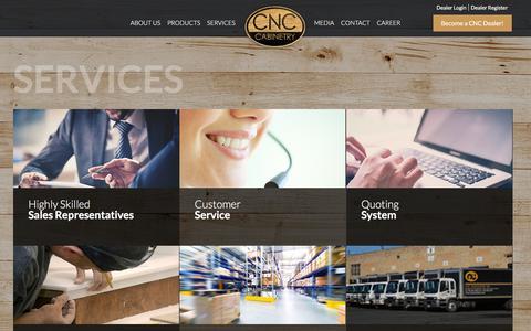 Screenshot of Services Page cncassociates.com - Services «  CNC Associates - captured Jan. 23, 2016