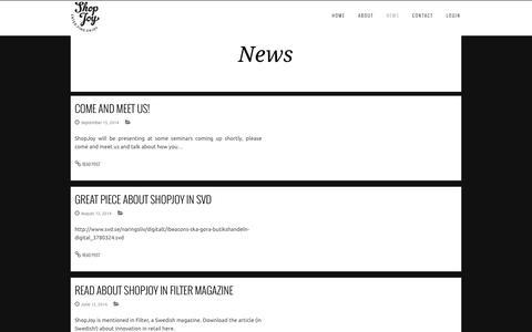 Screenshot of Press Page shopjoy.se - ShopJoy - captured Oct. 26, 2014