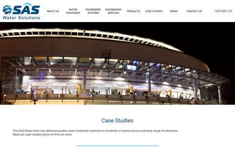 Screenshot of Case Studies Page saswater.com.au - Case Studies   SAS Water Solutions - captured Oct. 1, 2018