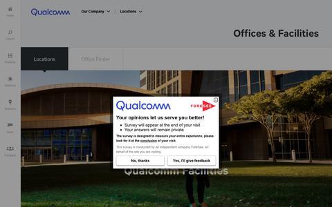 Screenshot of Locations Page qualcomm.com - Locations | Qualcomm - captured Oct. 22, 2018