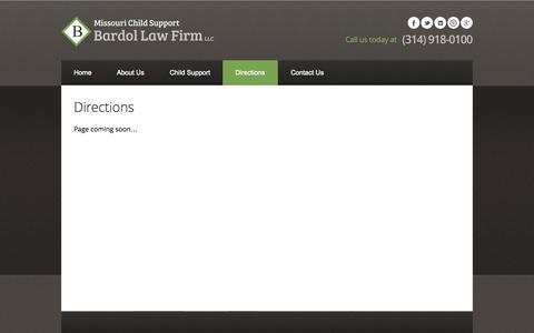 Screenshot of Maps & Directions Page stlouischildsupportlawyer.com - Missouri Child Support | Bardol Law Firm - captured Nov. 3, 2014