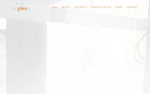 Screenshot of Jobs Page isoplexis.com - Careers - IsoPlexis - captured Jan. 9, 2016