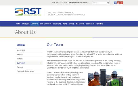 Screenshot of Team Page rstsolutions.com.au - Our Team - RST Solutions - captured Sept. 21, 2018