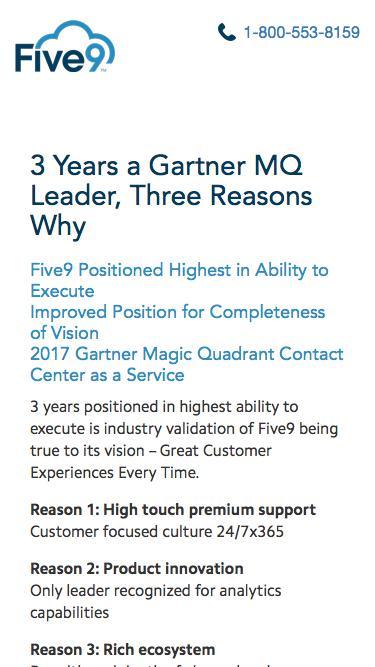 Gartner Magic Quadrant Report | Five9