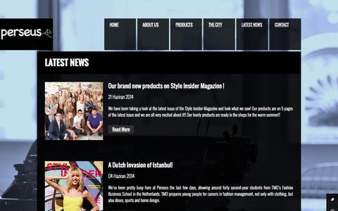 Screenshot of Press Page perseus.com.tr - News - PERSEUS - captured Nov. 1, 2014