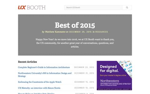 UX Booth | A User Experience Design Publication