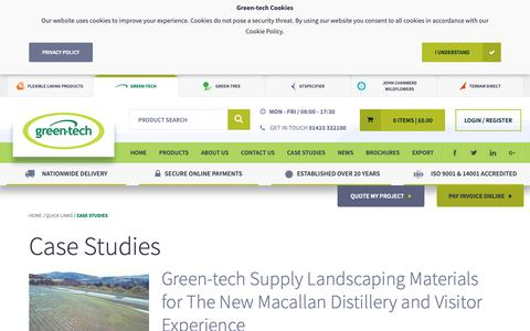 Screenshot of Case Studies Page green-tech.co.uk - Case Studies - Quick Links | Green-tech - captured Sept. 30, 2018