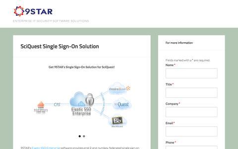 Screenshot of Landing Page 9starinc.com - SciQuest Single Sign-On Solution - captured Oct. 22, 2016