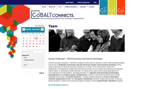 Screenshot of Team Page cobaltconnects.ca - Team | CoBALT Connects - captured Dec. 10, 2015