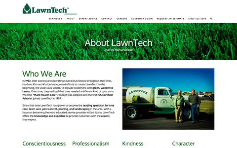 Screenshot of About Page golawntech.com - About Lawn Care Business In East Idaho   208 523-5296 - captured Sept. 27, 2018