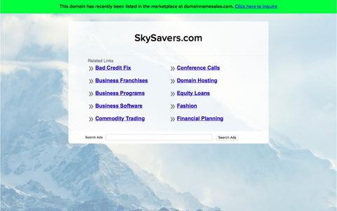 Screenshot of Home Page skysavers.com - SkySavers.com - captured Sept. 20, 2018
