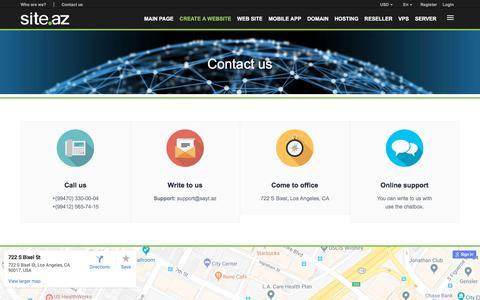 Screenshot of Contact Page site.az - Site.az -  | Website Development | Hosting services | Reseller services | Domain registration - captured June 28, 2018