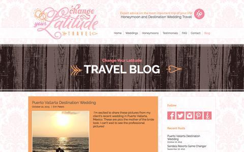 Screenshot of Blog changeyourlatitudetravel.com - Travel Blog | Change Your Latitude Travel | Houston, TX - captured Nov. 3, 2016