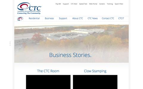 Screenshot of Testimonials Page connectctc.com - CTC Business Reviews | Brainerd Minnesota | Telecom Solutions - captured May 21, 2016