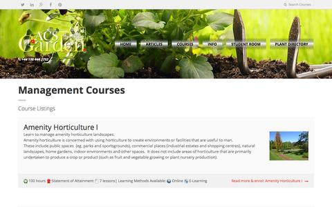 Screenshot of Team Page acsgarden.com - Management - Home study gardening and horticulture courses, and gardening tips - captured June 15, 2016