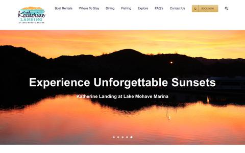 Screenshot of Home Page katherinelanding.com - Katherine Landing – Katherine Landing at Lake Mohave - captured June 13, 2018