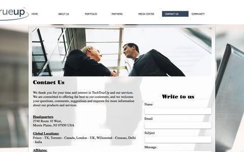 Screenshot of Contact Page techtrueup.com - TechTrueUp - Our Diversity Enhances Your Success - captured June 16, 2017