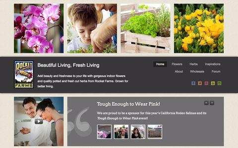 Screenshot of Home Page rocketfarms.com - Indoor Plants Flowers Herbs Grower - Rocket Farms - captured Sept. 23, 2014