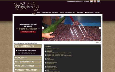 Screenshot of Site Map Page wijnstudio.nl - Sitemap | Wijnstudio - captured Oct. 7, 2014