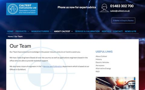 Screenshot of Team Page caltest.co.uk - Our Team | Caltest Instruments Ltd - captured Sept. 26, 2018