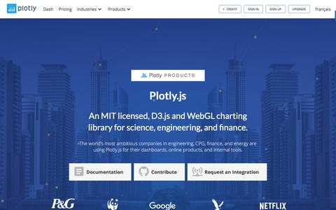Plotly.js: D3.js and WebGL charting library · Make charts and dashboards online