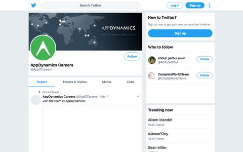 Tweets by AppDynamics Careers (@AppDCareers) – Twitter