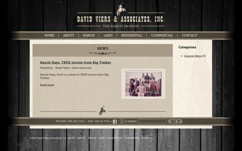 Screenshot of Press Page davidviers.com - News | David Viers & Associates - captured Oct. 5, 2014