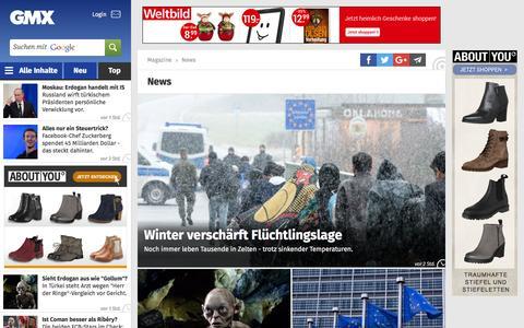Screenshot of Press Page gmx.net - Aktuelle Nachrichten aus Politik, Wirtschaft & Panorama - captured Dec. 2, 2015