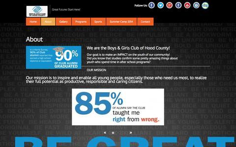 Screenshot of About Page bgchoodcounty.com - About - captured Nov. 3, 2014