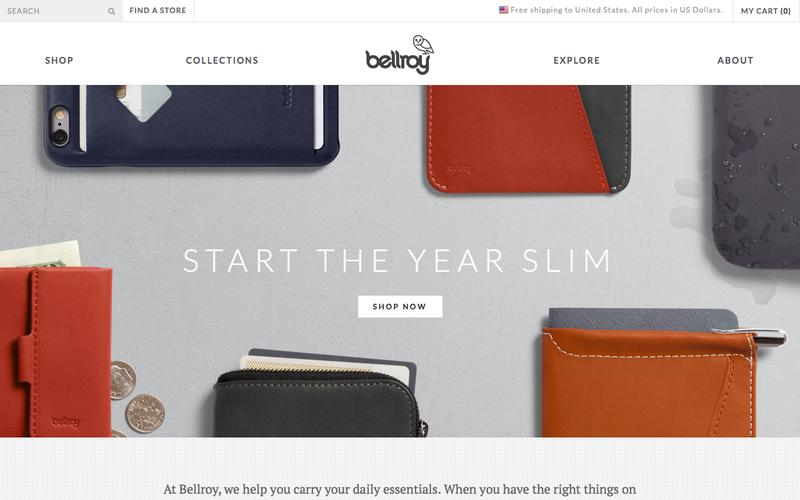 Screenshot Slim Leather Wallets by Bellroy