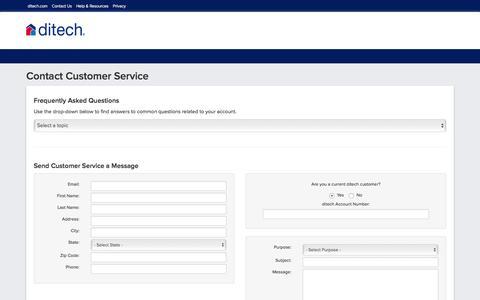 Screenshot of Support Page ditech.com - Contact Customer Service - ditech - captured Dec. 1, 2016