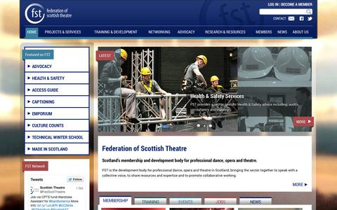Screenshot of Home Page Terms Page scottishtheatre.org - Federation of Scottish Theatre | Federation of scottish theatre - captured Oct. 5, 2014