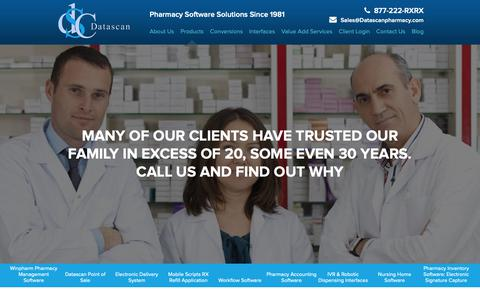 Screenshot of Products Page datascanpharmacy.com - Software Products for Pharmacy | Datascan - captured Nov. 29, 2018
