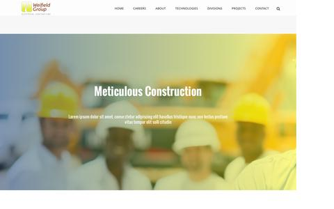 Screenshot of About Page weifieldcontracting.com - About Us – Weifield Electrical Contracting - captured June 28, 2016