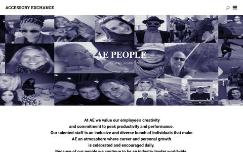 Screenshot of Team Page accessoryexchange.com - Accessory Exchange  New York   Our People - captured Nov. 20, 2016