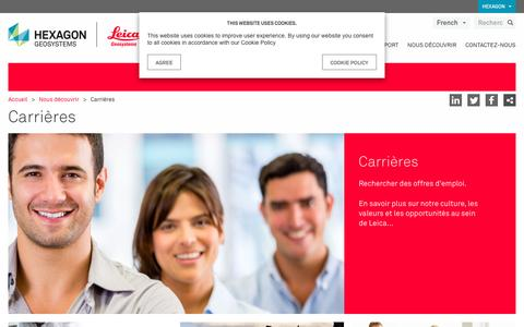 Screenshot of Jobs Page leica-geosystems.com - Carrières - captured Jan. 29, 2017
