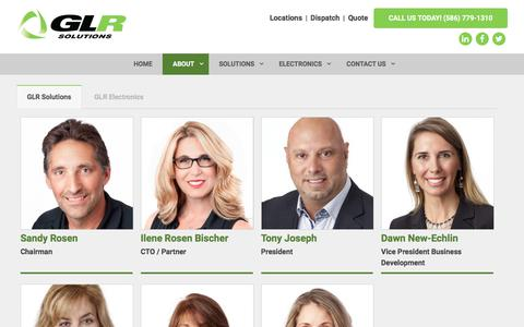 Screenshot of Team Page go-glr.com - The Team at GLR Advanced Recycling knows the scrap metal business - captured Sept. 25, 2018