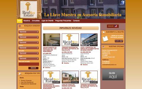 Screenshot of Home Page realkeyestate.com - Real Key Estate - Inicio - captured Oct. 7, 2014