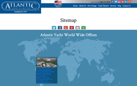 Screenshot of Site Map Page atlanticyachtandship.com - Sitemap  : Atlantic Yacht & Ship, Inc. - captured Sept. 24, 2018