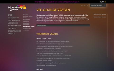 Screenshot of FAQ Page hollandcasino.nl - Veelgestelde vragen   Holland Casino - captured Dec. 11, 2015