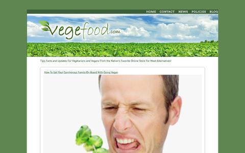Screenshot of Blog vegefood.com - Vegefood.com - captured June 30, 2018