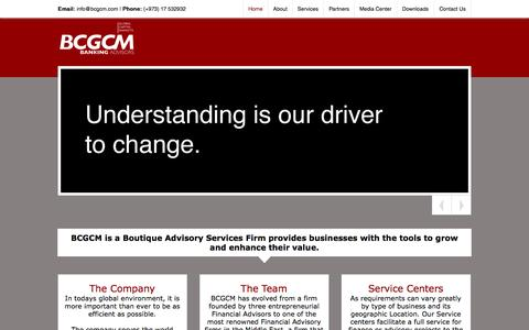 Screenshot of Home Page bcgcm.com - BCGCM | Banking Advisors - captured Sept. 30, 2014