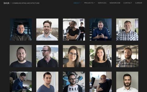 Screenshot of Team Page brickvisual.com - Team - Brick Visual - captured Aug. 3, 2018