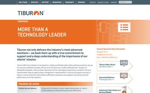 Screenshot of Services Page tiburoninc.com - Tiburon - Services - Tiburon - captured Oct. 6, 2014