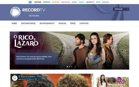 Screenshot of r7.com - Record TV Network - captured Nov. 9, 2017