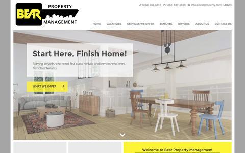 Screenshot of Home Page bearpropertymanagement.com - Bear Property Management   Wisconsin Rentals Made Simple - captured Nov. 22, 2016