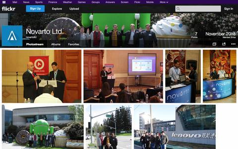 Screenshot of Flickr Page flickr.com - Flickr: novartoltd's Photostream - captured Oct. 26, 2014