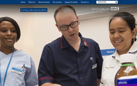 Screenshot of Home Page oxfordhealth.nhs.uk - Oxford Health NHS Foundation Trust Oxford Health NHS Foundation Trust - captured Nov. 14, 2015