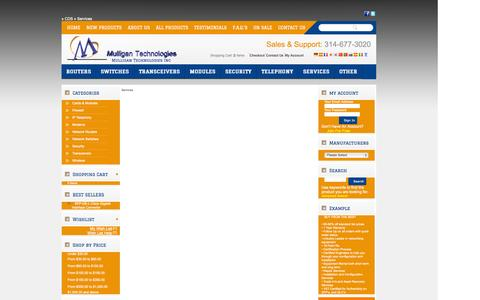 Screenshot of Services Page mulligantechnologies.com captured Oct. 7, 2014